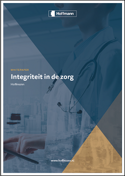 Cover whitepaper 'integriteit in de zorg'